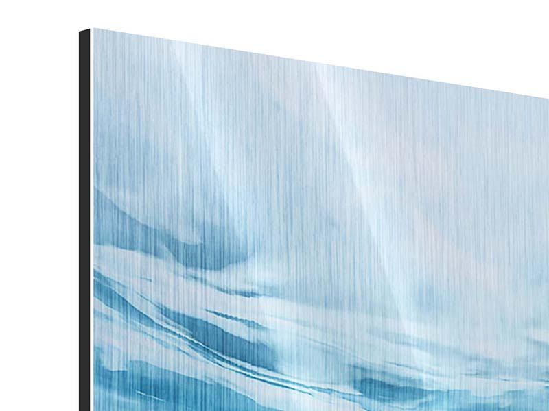 Metallic-Bild 4-teilig Lichtspiegelungen unter Wasser