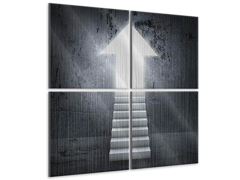 Metallic-Bild 4-teilig Der Aufstieg