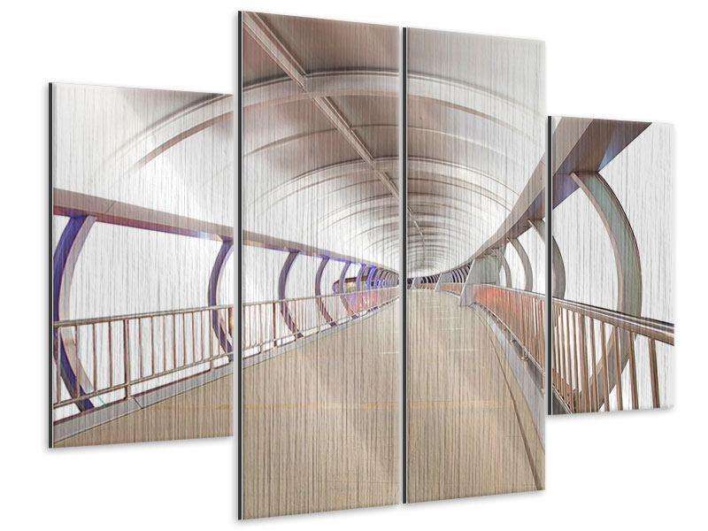 Metallic-Bild 4-teilig Brückenfeeling
