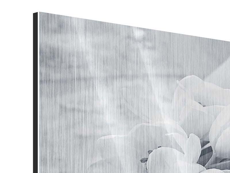 Metallic-Bild 4-teilig Romantisches Tulpenbukett