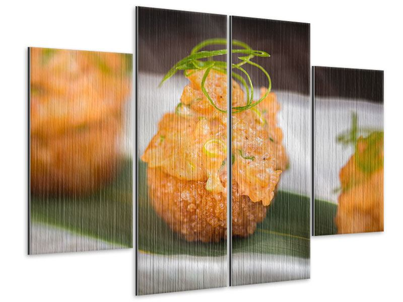 Metallic-Bild 4-teilig Asiatische Küche