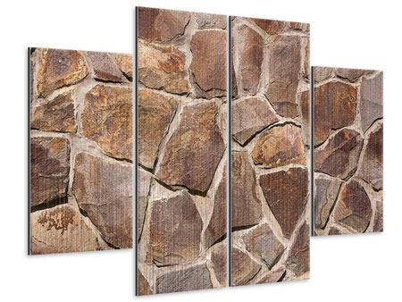 Metallic-Bild 4-teilig Designmauer