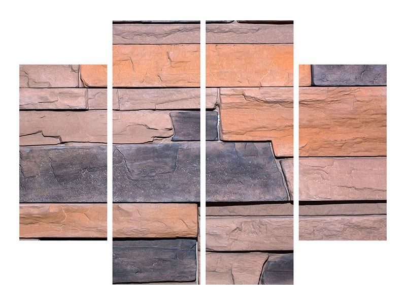 Metallic-Bild 4-teilig Wall