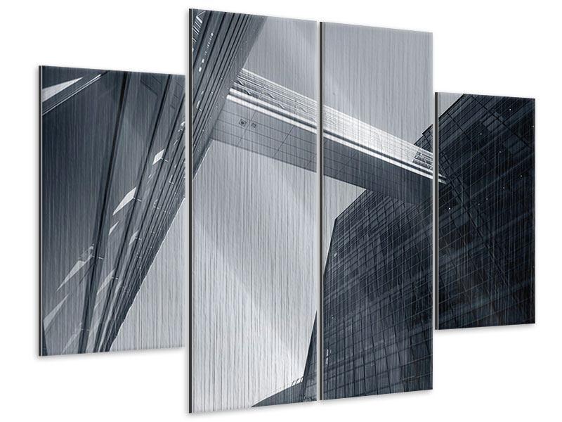 Metallic-Bild 4-teilig Der schwarze Diamant Kopenhagens