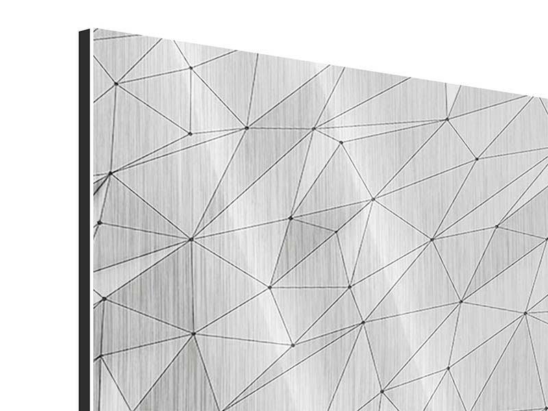 Metallic-Bild 4-teilig 3D-Geo