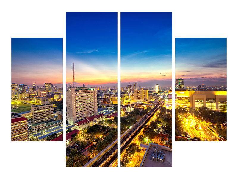 Metallic-Bild 4-teilig Bangkok
