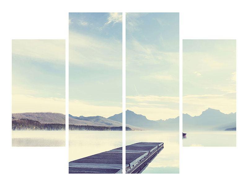 Metallic-Bild 4-teilig Bergromantik