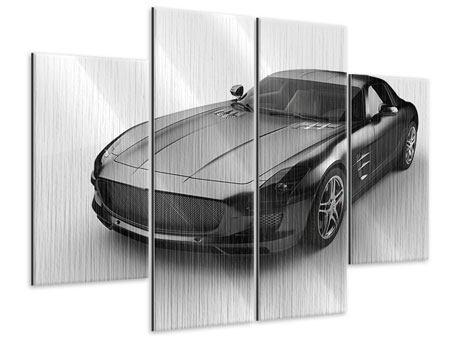 Metallic-Bild 4-teilig 007 Auto