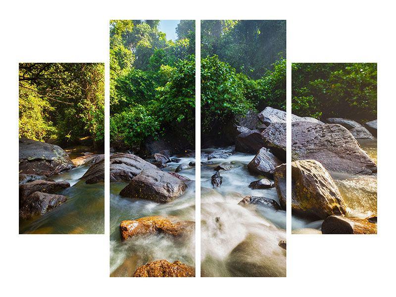 Metallic-Bild 4-teilig Das Gewässer