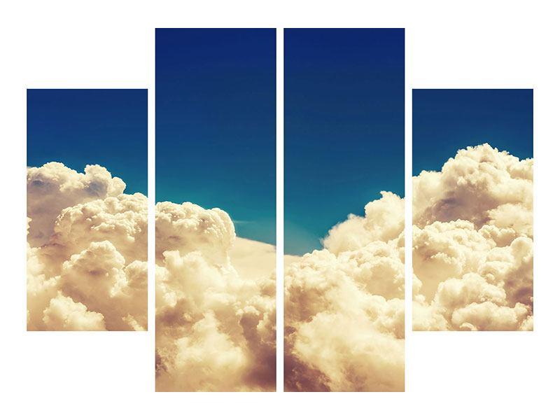 Metallic-Bild 4-teilig Himmelswolken