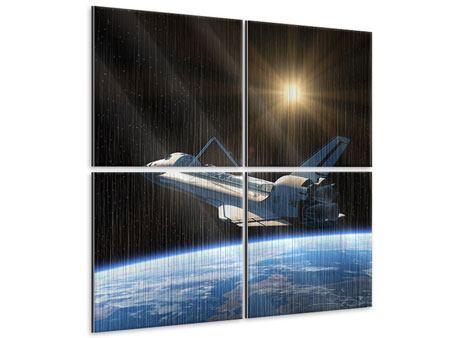 Metallic-Bild 4-teilig Das Raumschiff