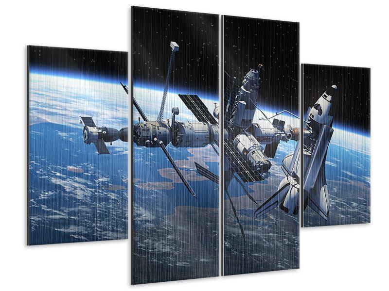 Metallic-Bild 4-teilig Satellit