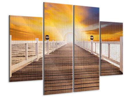 Metallic-Bild 4-teilig Die Brücke Ins Glück