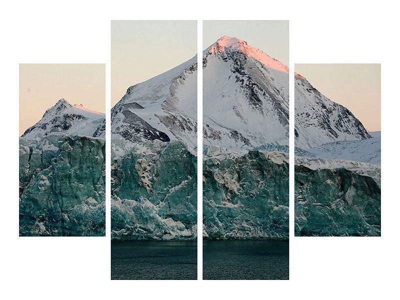 Metallic-Bild 4-teilig Die Antarktis