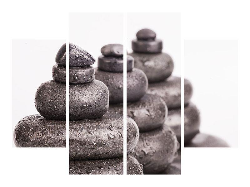 Metallic-Bild 4-teilig Die Kraft der Steine