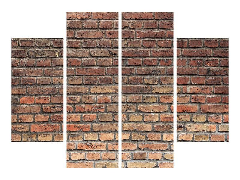 Metallic-Bild 4-teilig Brick Wall