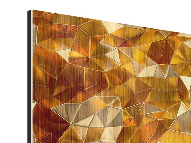Metallic-Bild 4-teilig 3D-Bernsteine