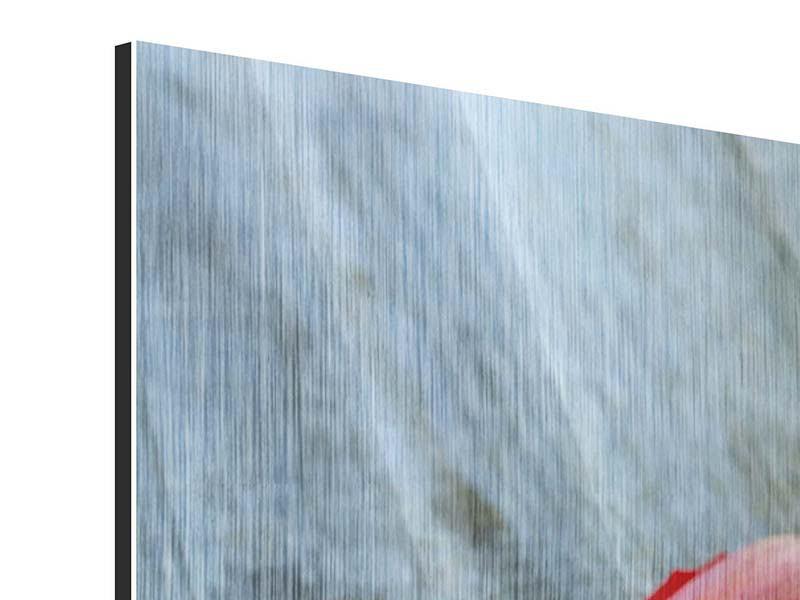 Metallic-Bild 4-teilig Der rote Tulpenstrauss