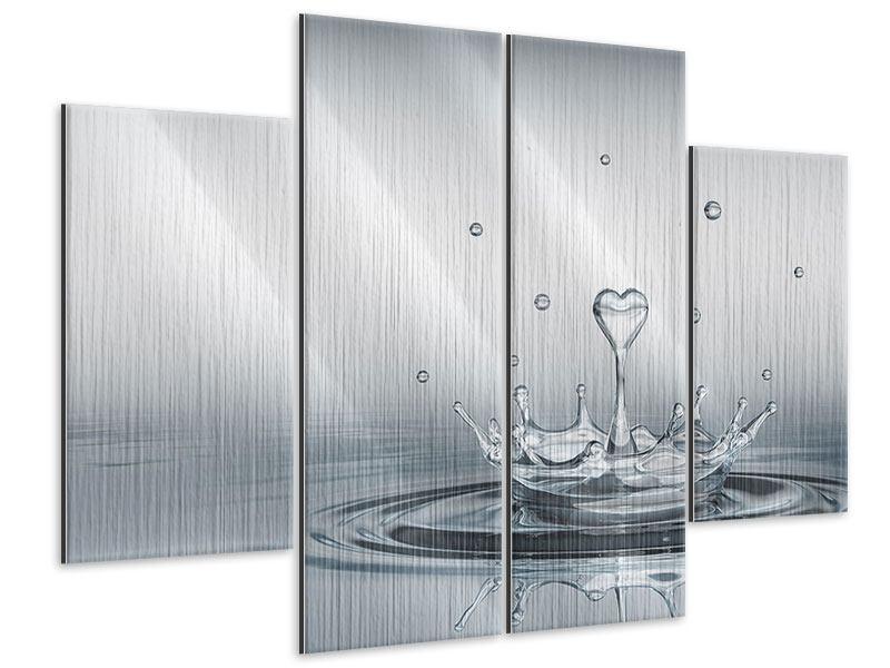 Metallic-Bild 4-teilig Wasserfigur