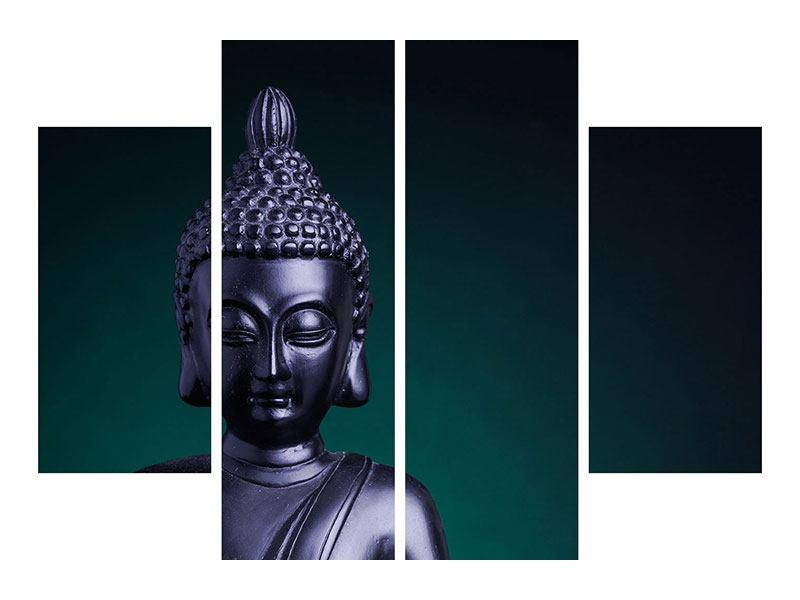 Metallic-Bild 4-teilig Die Weisheit des Buddhas