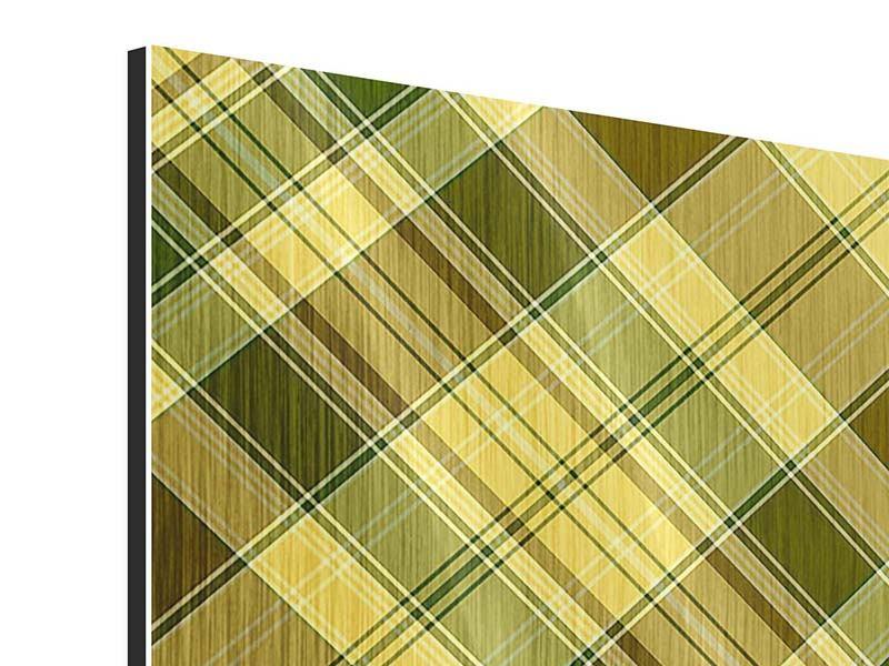 Metallic-Bild 4-teilig Karos im Retrodesign