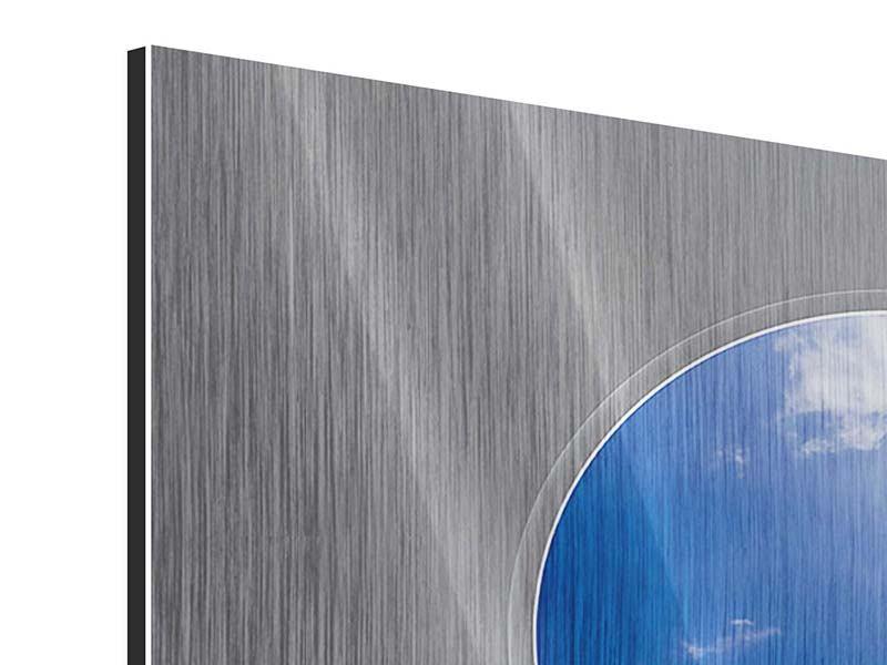 Metallic-Bild 4-teilig Himmelstreppe
