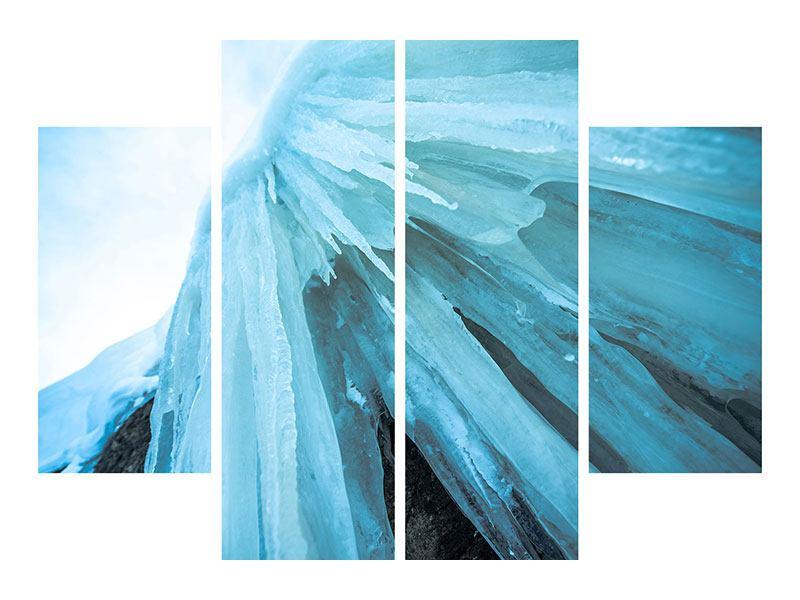 Metallic-Bild 4-teilig Die Eiswand