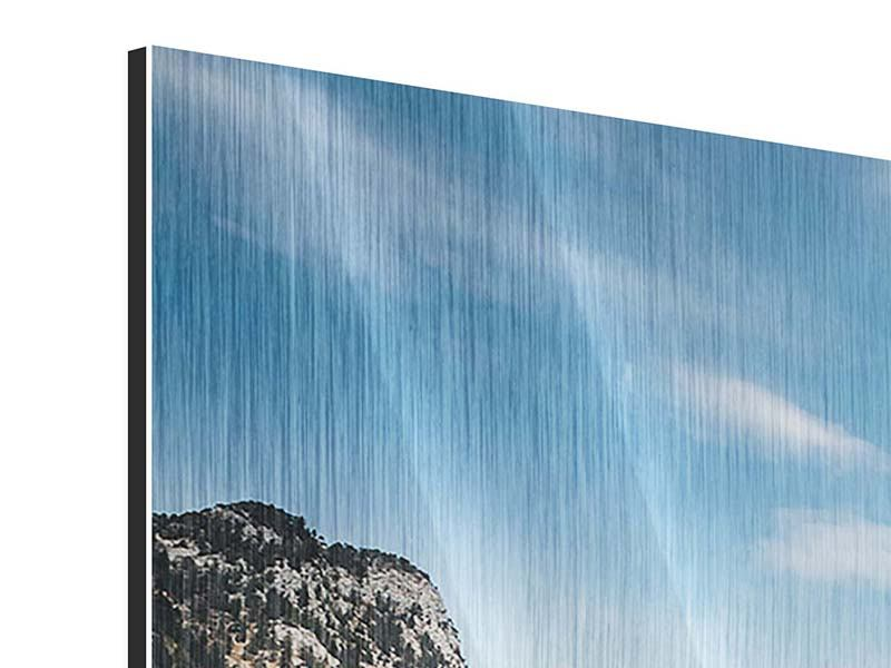 Metallic-Bild 4-teilig Der idyllische Bergsee