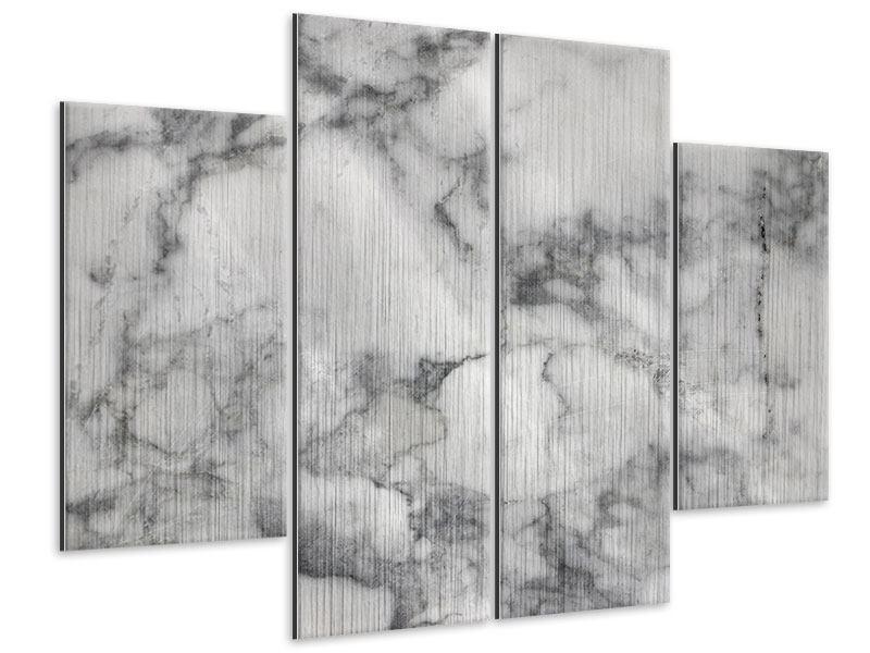 Metallic-Bild 4-teilig Klassischer Marmor