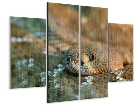 Metallic-Bild 4-teilig Viper