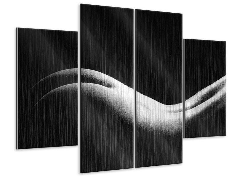 Metallic-Bild 4-teilig Nude