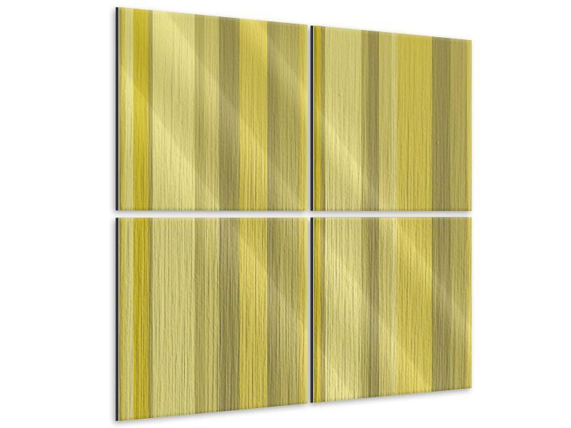 Metallic-Bild 4-teilig Streifen