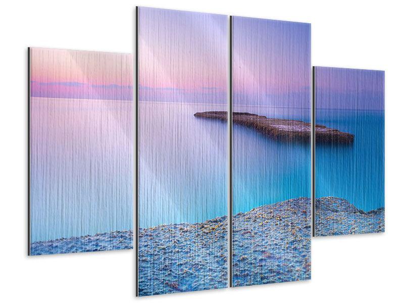 Metallic-Bild 4-teilig Unendlicher Ozean