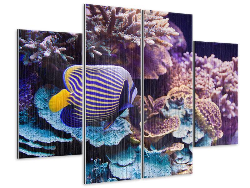 Metallic-Bild 4-teilig Faszination Unterwasser