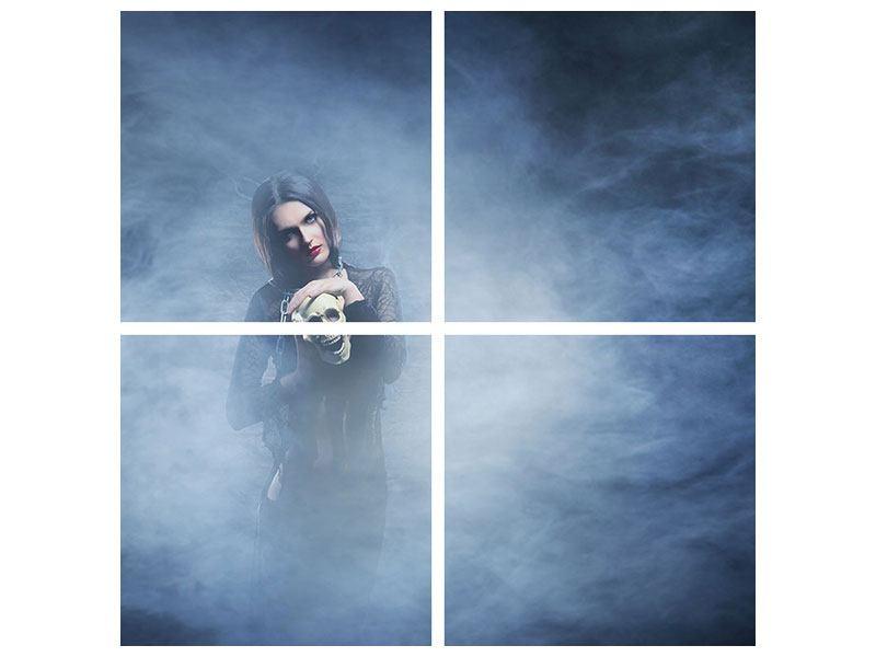 Metallic-Bild 4-teilig Das Geheimnis des Skulls
