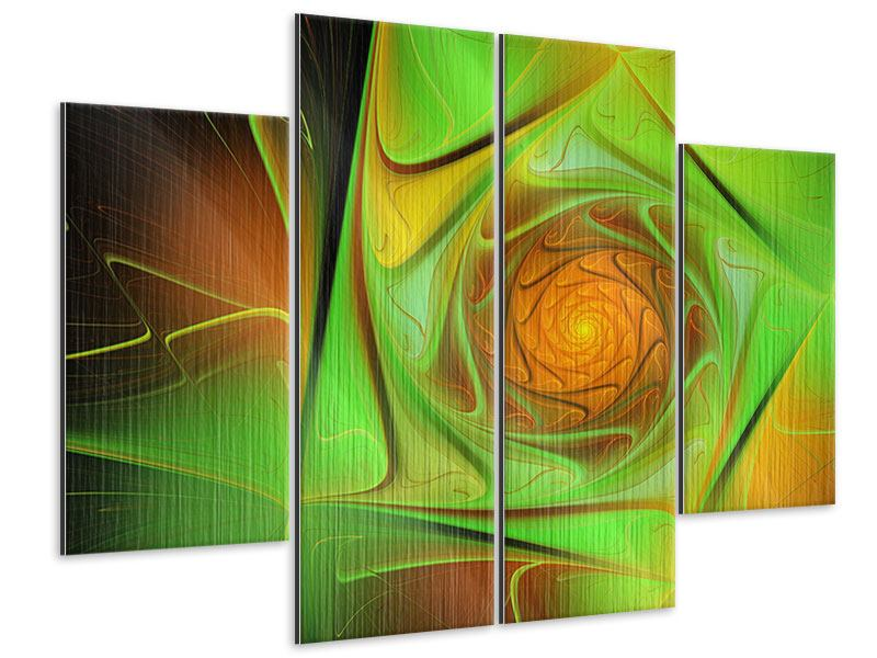 Metallic-Bild 4-teilig Abstraktionen