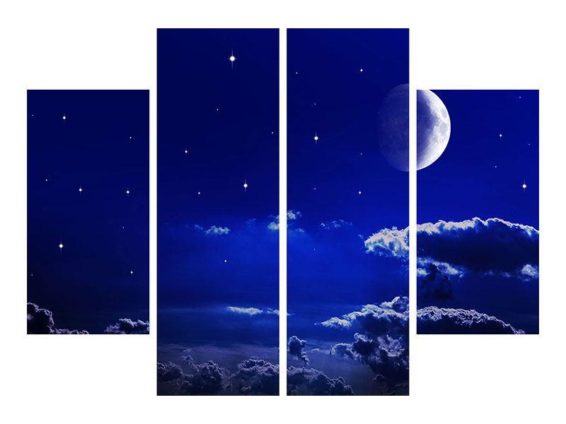 Metallic-Bild 4-teilig Der Nachthimmel