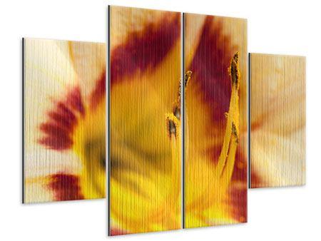 Metallic-Bild 4-teilig Riesenlilie