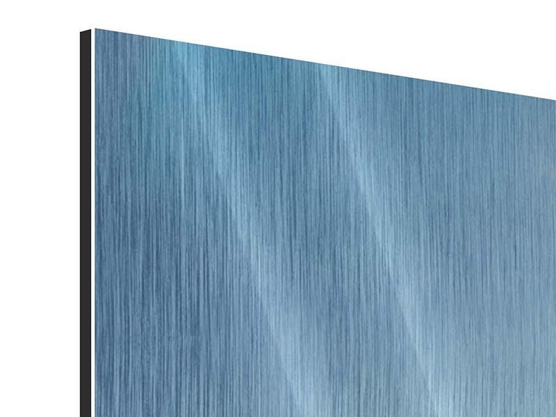 Metallic-Bild 4-teilig Wolkenkratzer-Architektur Dubai