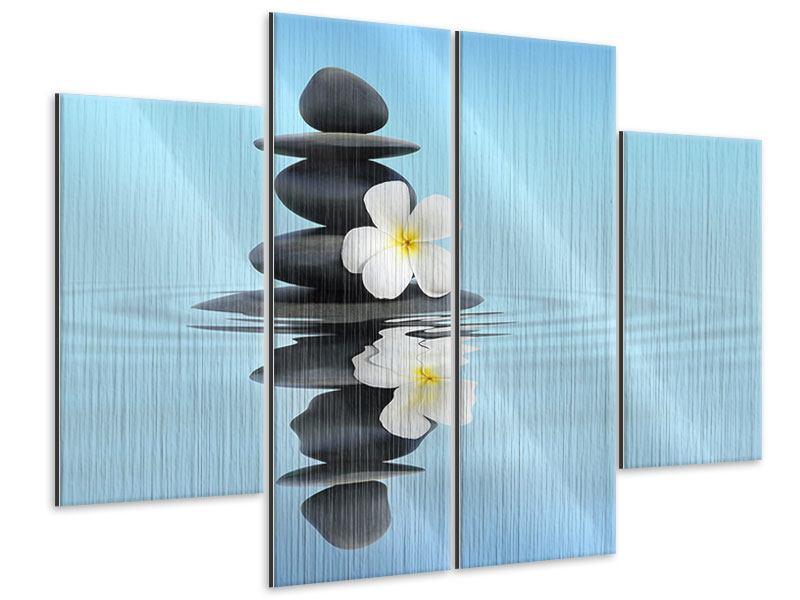 Metallic-Bild 4-teilig Zen Steine