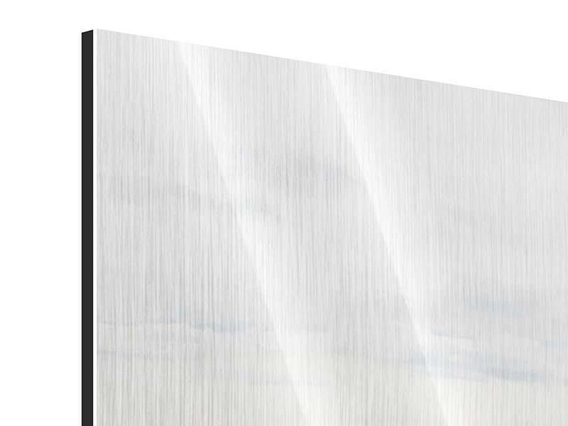 Metallic-Bild 4-teilig Leise Wellen