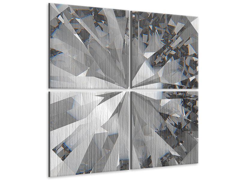 Metallic-Bild 4-teilig Riesendiamant