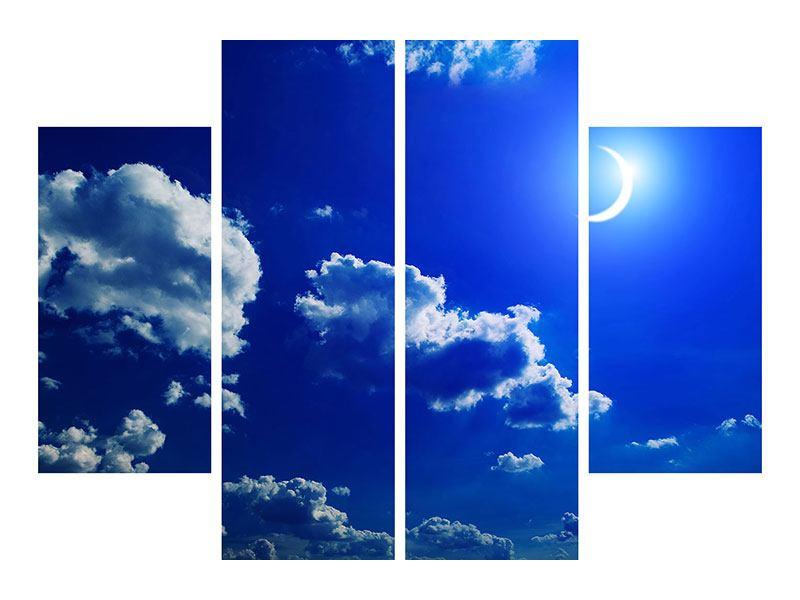 Metallic-Bild 4-teilig Der Mond