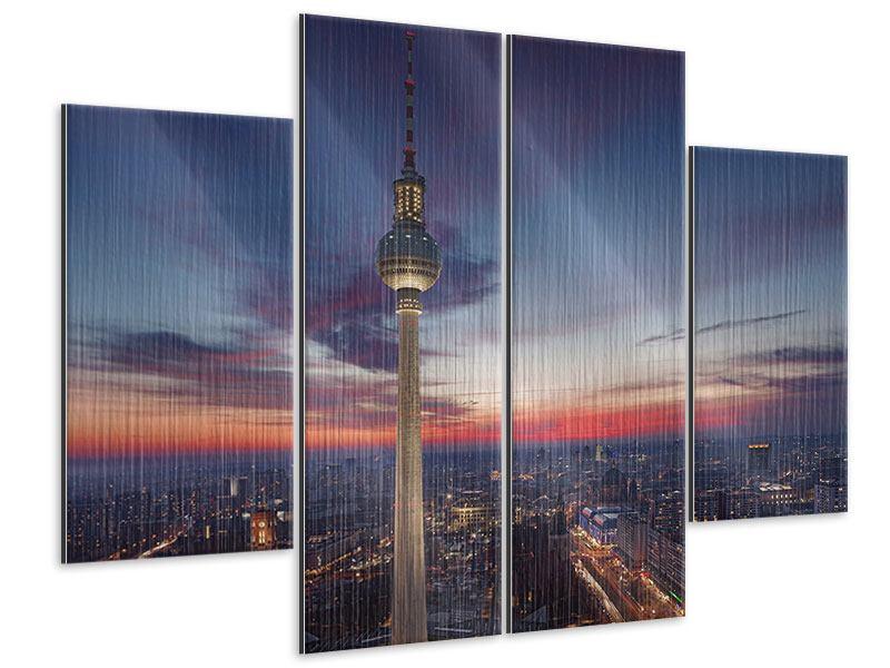 Metallic-Bild 4-teilig Berlin