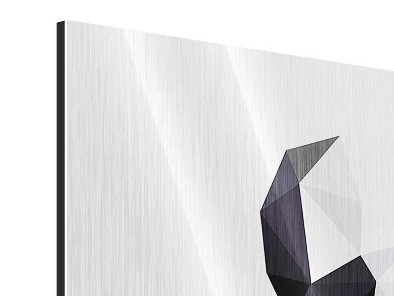 Metallic-Bild 4-teilig Origami Bulldogge