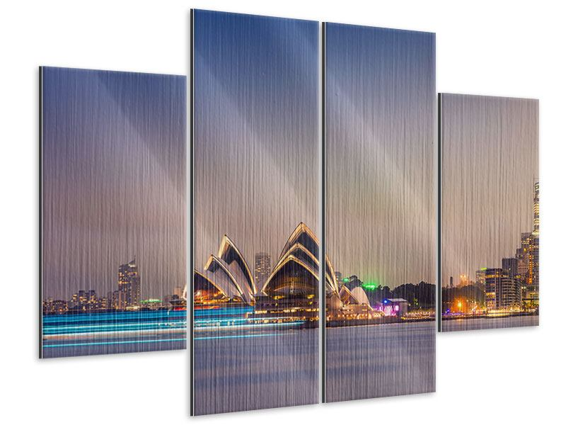 Metallic-Bild 4-teilig Opera House
