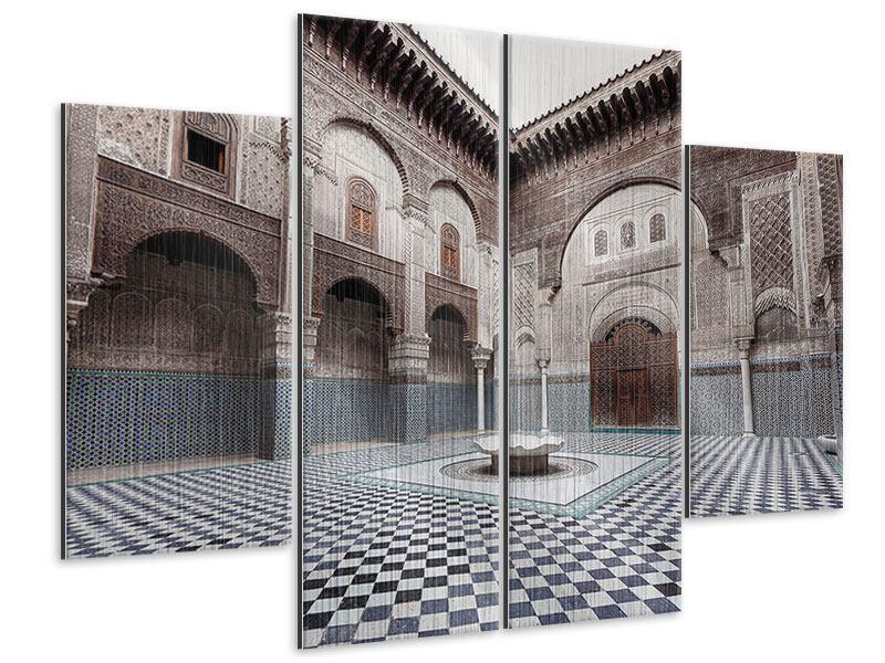 Metallic-Bild 4-teilig Orientalischer Hinterhof