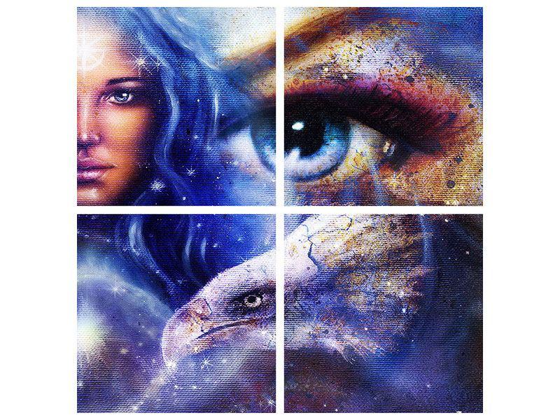 Metallic-Bild 4-teilig Eyecatcher