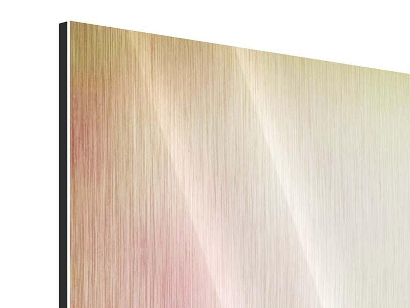 Metallic-Bild 4-teilig Colored Lilien