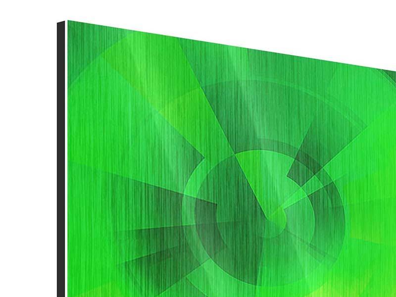 Metallic-Bild 4-teilig Perspektiven in Grün